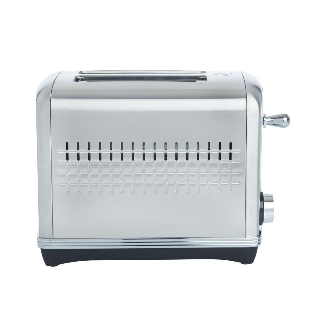 Wilko Steel Stamped 2 Slice Toaster - £6.00 - (£2 C&C/£5 Delivery) @ Wilko  - 2 Year Guarantee