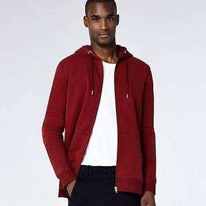Amazon Brand - Meraki Men's Zip-Up Hoodie, Red - Small @ Amazon £6.60 Prime £11.09 Non Prime
