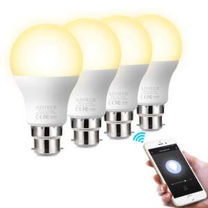 WiFi Smart Bulb, No Hub Requried, B22 Bayonet LED amazon lightening deal - £28.99 @ Sold by Ares-EU and Fulfilled by Amazon.