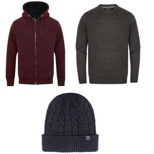 Borg Lined Hoodie + Jumper + Hat for £25 @ Tokyo Laundry