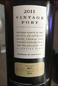 M&S Vintage Port / Reduced to Clear £6 instore Stratford