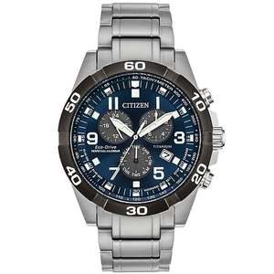Citizen Perpetual Calendar Men's Eco-Drive Chronograph Titanium Watch £174 with code at H Samuel