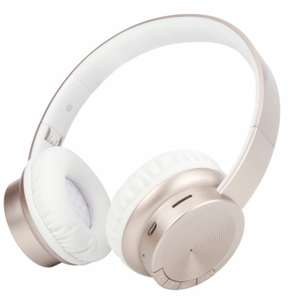 Bluetooth Wireless Stereo Headphones, Gold / White Built in FM Radio & SD Card Slot £12.54 Delivered @ CPC