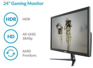 """24"""" 4K UHD electriQ 60Hz FreeSync HDR Gaming Monitor + 2 Year Warranty - £119.97 delivered @ Laptops Direct"""