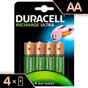 Duracell Recharge Ultra Type AA Batteries 2500 mAh, Pack of 4 - £6.99 @ Amazon (+£4.49 Non-prime)