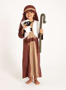 Christmas Nativity Brown Shepherd & Sheep Costume (3-10 years) £1 + £3.95 delivery charge at Sainsbury's Tu Clothing