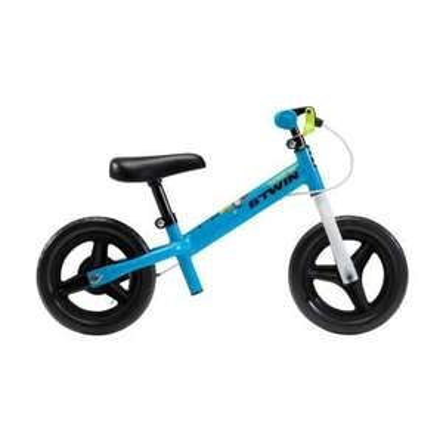 """B'TWIN RUNRIDE 500 Balance Bike, Blue/Green- 10"""" £34.99 at Decathlon"""
