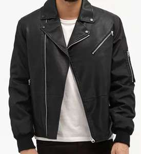 Freewheeler Faux Leather Jacket - £19 from FCUK- Free C&C or extra £3.95 UK Delivery