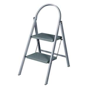 Robert Dyas - Abru 2-Tread Steel Stepladder - Grey - £11.99 - Free Click & Collect- £10.79 with Code