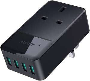 AUKEY USB Wall Charger 4 Ports (2.4A) £10.99 @ Sold by Fance and fulfilled by Amazon (+£4.49 Non-prime)