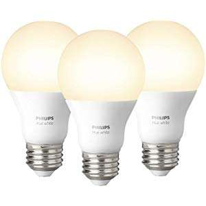 Philips Hue White Pack of 3 E27 / Pack of 3 B22 / Pack of 3 GU10 all £29.99 each @ Amazon Deal of The Day
