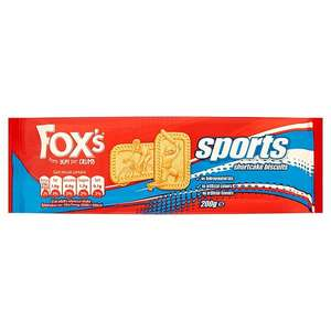 Fox's Sports Shortcake Biscuits 3 for a £1 instore in farmfoods