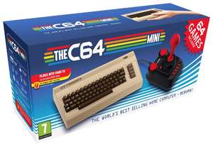 Commodore 64 Mini Retro with Joystick + 64 games £39.99 delivered @ Amazon