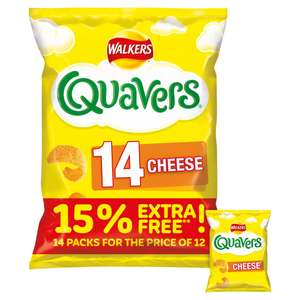 Walkers 14 pack Quavers, Squares, Wotsits, French Fries or Monster Munch £1.50 @ Iceland