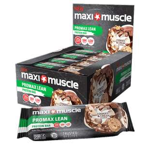 Maximuscle Promax Lean Protein Bars 12 x 55g Cookies & Cream £12.94 delivered at MaxiNutrition