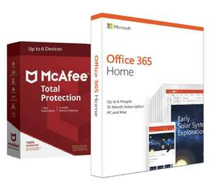 Microsoft Office 365 Home & McAfee Total Protection 6 Device £39.99 Argos