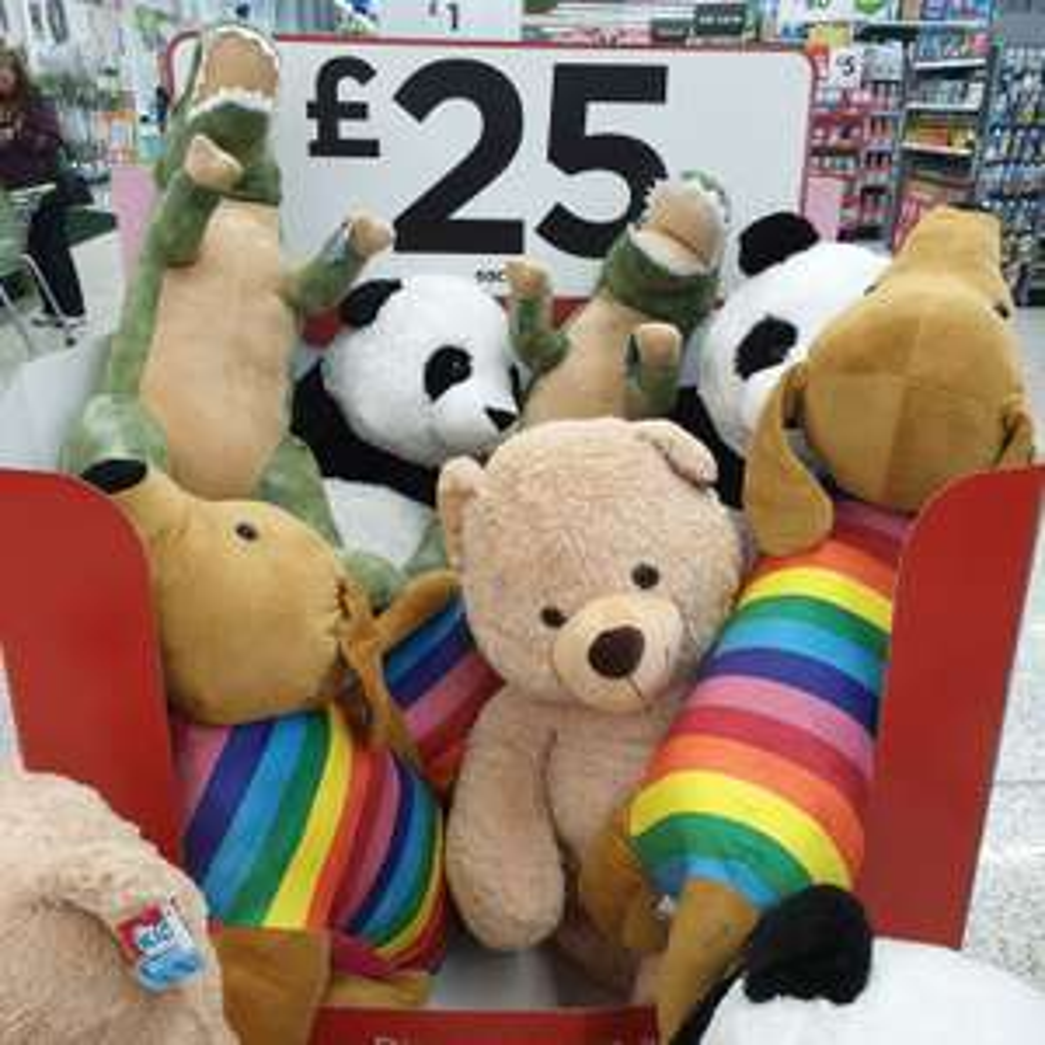Giant Christmas Teddies £25 at Asda + Free click & collect
