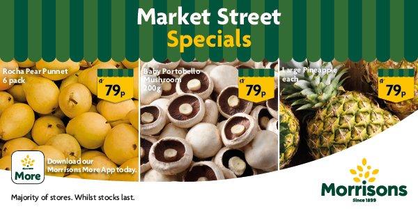 Portobello Mushrooms 200 gm / Pears 6 pack/ Giant Pineapple - 79p Each @ Morrisons