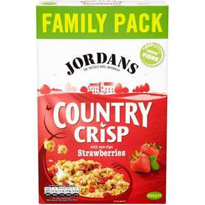 Jordans Country Crisp Strawberry 850g 'Family Pack' £2 at Poundland, in-store Liscard, Wirral