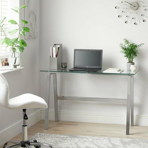 Argos Home Mirano Glass Topped Office Desk £66.49 - Free Click & Collect @ Argos