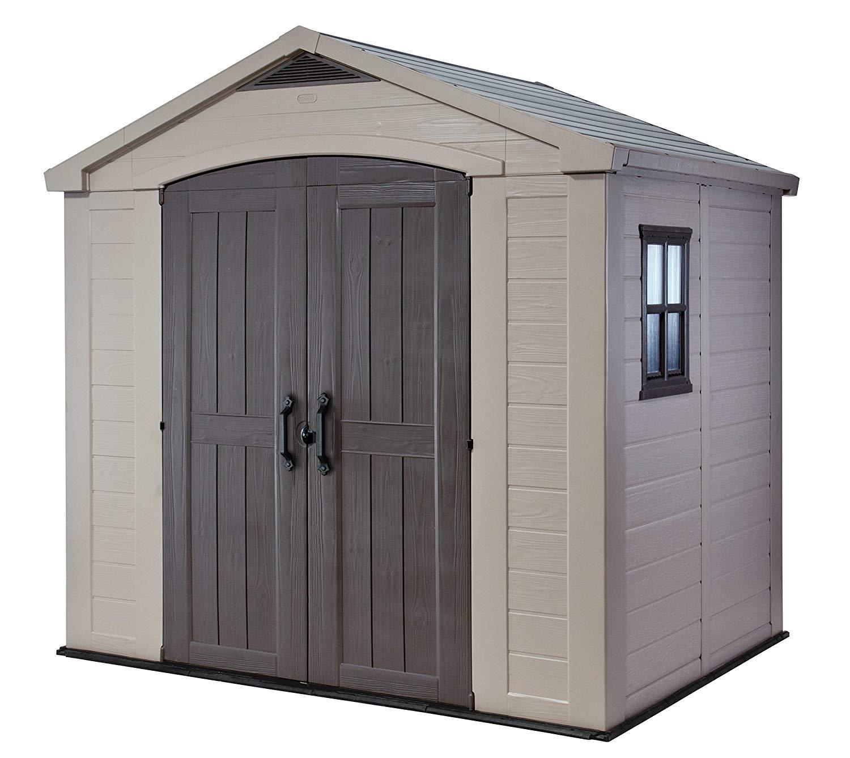 Keter Factor Outdoor Plastic Garden Storage Shed, Beige, 8 x 6 ft  £550 @ Amazon