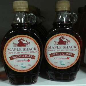 Maple Shack 100% pure Maple Syrup 250ml/330g £3.29 in Home Bargains stores (Liverpool & Liscard)