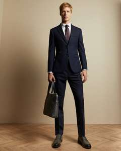 SLIM FIT THRILLD Two-piece suit for £100 Ted Baker London with code. Free standard delivery.