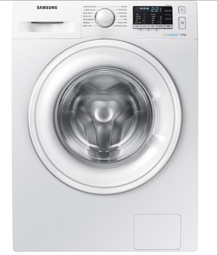 Samsung WW70J5555WW 7kg Ecobubble Washing Machine 1400rpm – WHITE + 5 years warranty £299 @ Appliance City