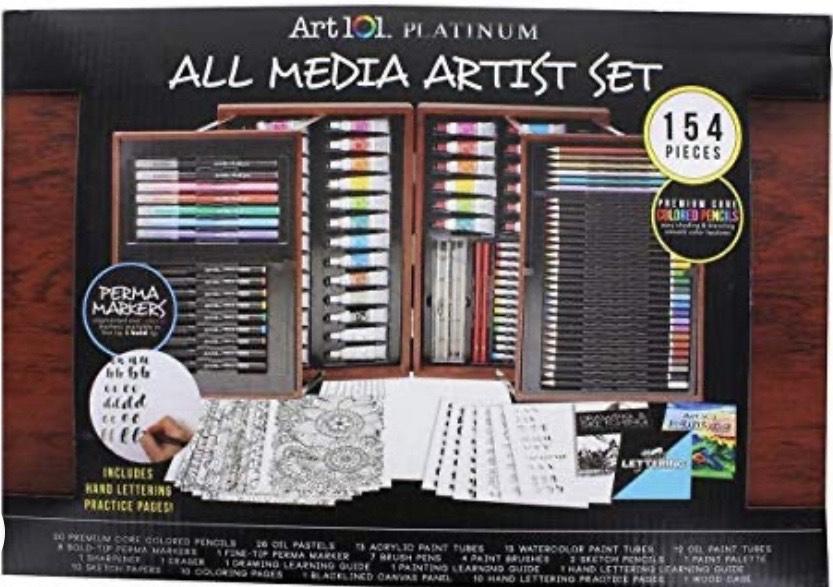 Art 101 all media art set in wooden box 154 pieces Costco - £11.97