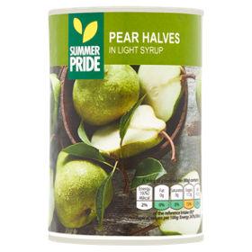 Summer Pride Tinned Pear Halves in Asda Romford - 20p