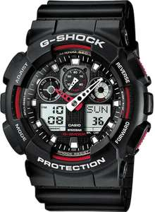 Casio Mens G-Shock Auto LED Light All Red / Black Watch £51.20 / £51.98 at Amazon