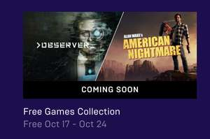 Observer & Alan Wake's American Nightmare (PC Games) Free @ Epic Games