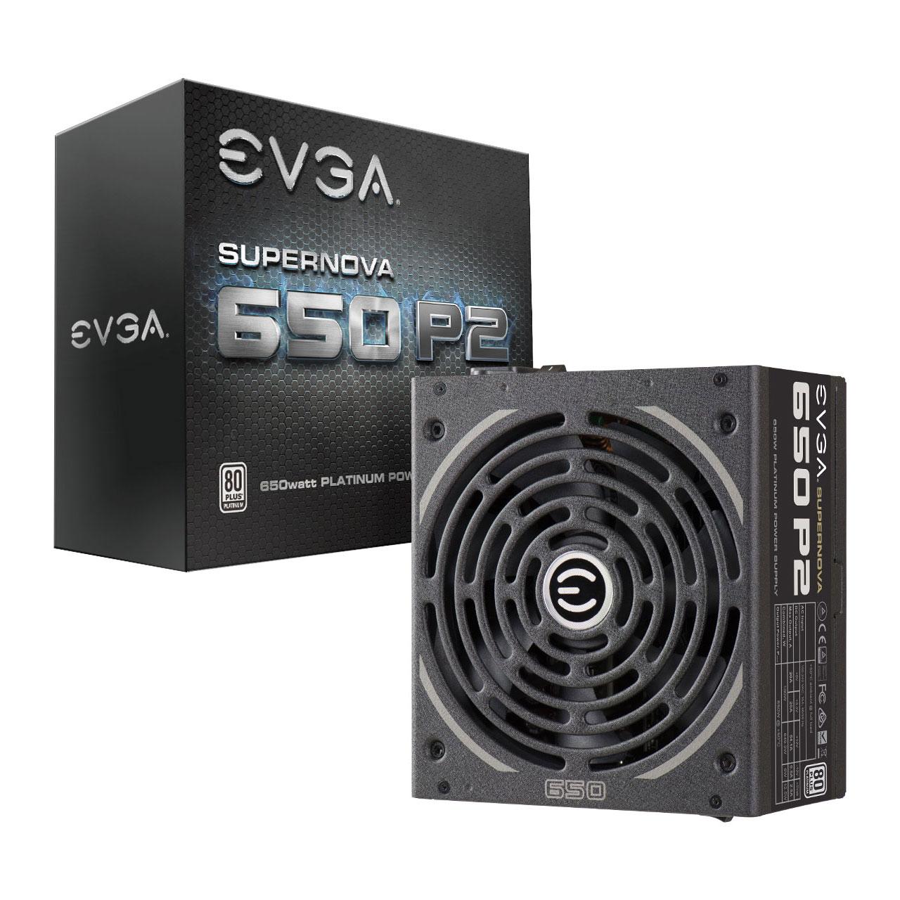 EVGA SuperNOVA 650 P2, 80+ PLATINUM 650W , Fully Modular £80.47 delivered at Scan