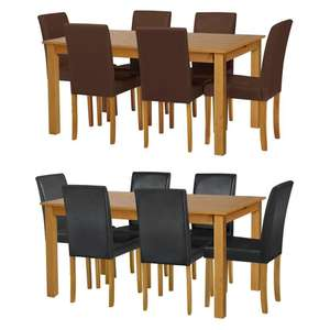 Argos Home Ashdon Solid Wood Dining Table & 6 Chairs £201.94 Delivered + 2000 nectar Points Promo @ Argos