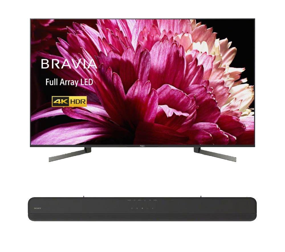 "SONY BRAVIA KD55XG9505BU 55"" Smart 4K Ultra HD HDR LED TV & HT-X8500 Sound Bar Bundle with Google Assistan £1,398 at Currys PC World"