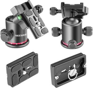 Neewer Metal 360 Tripod Head with 1/4 Inch Quick Release Plate & Spirit Level / Up to 8KG - £11.49 with code Sold by Nashes Camspace and FBA
