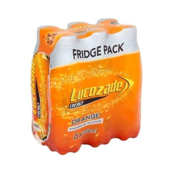 Lucozade Energy Fridge Pack, Orange/ Pink Lemonade/Apple Blast  6x380 £2 @ Asda