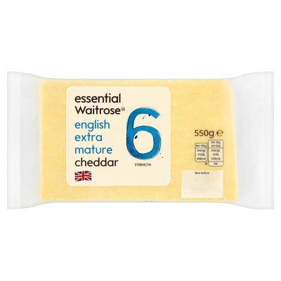Waitrose - English Extra Mature/Mature/Medium/Mild Cheddar 550g £2.66 at Waitrose & Partners