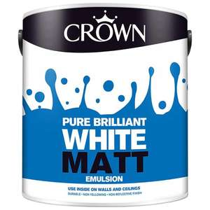 Crown Matt Emulsion 2.5L / White Silk  2.5L + More for £3 @ Morrisons