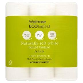 Waitrose - ECOlogical Toilet Paper 9 rolls £2.63 at Waitrose & Partners