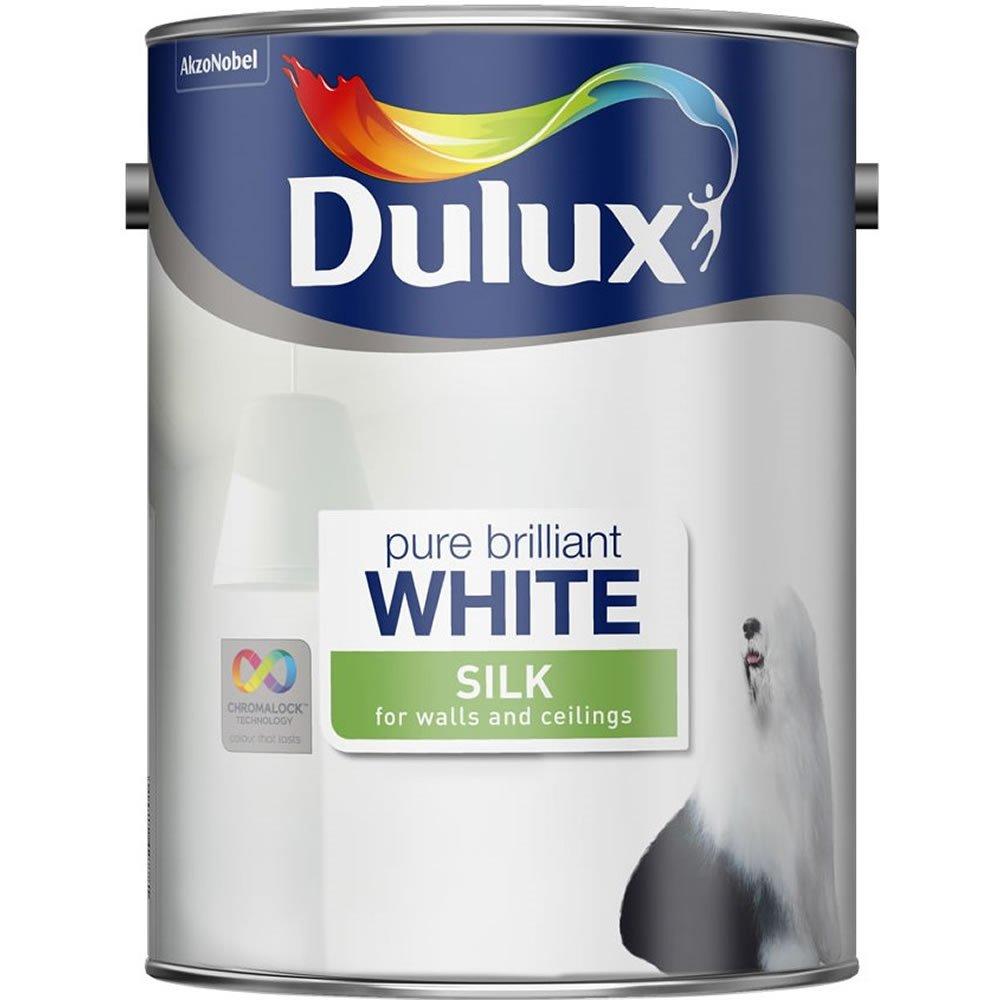 Dulux Silk/Matt Emulsion Paint Pure Brilliant White 5L £10 @ Wilko