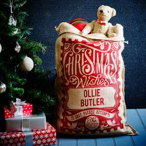Personalised Christmas Sacks £12.50 Delivered @ Handmadechristmasco