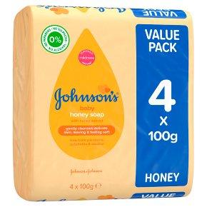 Waitrose - Johnson's Honey Baby Soap 4x100g 86p @ Waitrose & Partners