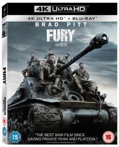 Fury 4K Ultra HD + Blu-ray + Digital HD £9.99 / £8.99 delivered with code @ Zoom
