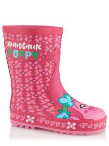 Poppy Trolls Pink Wellington Boots Sizes 5,6,7,8 Jnr , Now £5 @ Asda (Free Click & Collect)