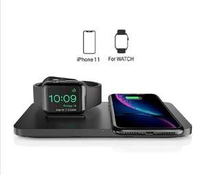 Dual 2 in 1 Wireless Charger, Apple Watch Charging Stand & Charging cable £17.99 (Prime) / £22.48 (non Prime) @ Prudenc / FB Amazon