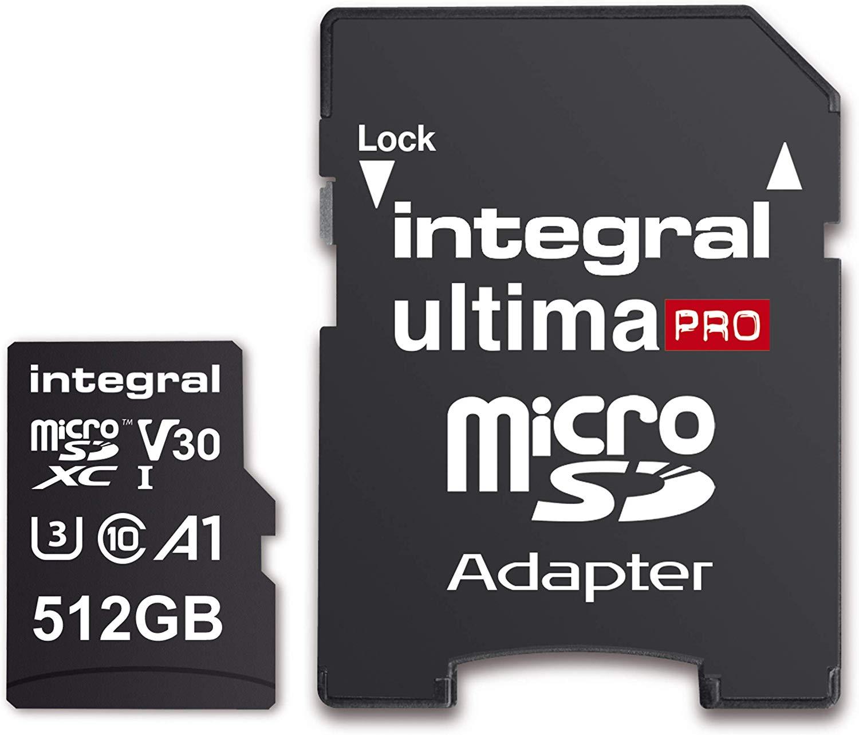 Integral Ultima Pro 512GB Micro SD Card Microsdxc 100MB/S V30 UHS-I U3 - £57.99 at Amazon