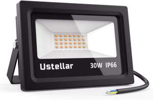 Ustellar LED Floodlight 30W for £10.99 Prime / £15.48 non-Prime delivered @ Amazon / Ustellar