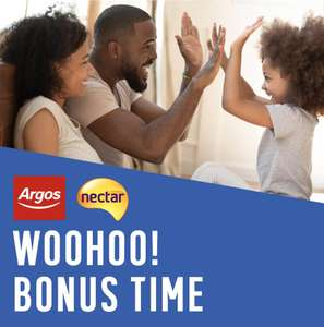 Spent £50 collect 1000 nectar points, spent £100 collect 2000 nectar points at Argos home and furniture