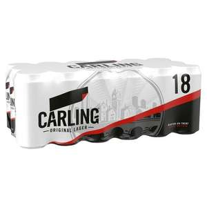 18 cans of Carling - £10.00 instore @ Morrisons Brampton